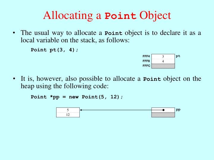 Allocating a