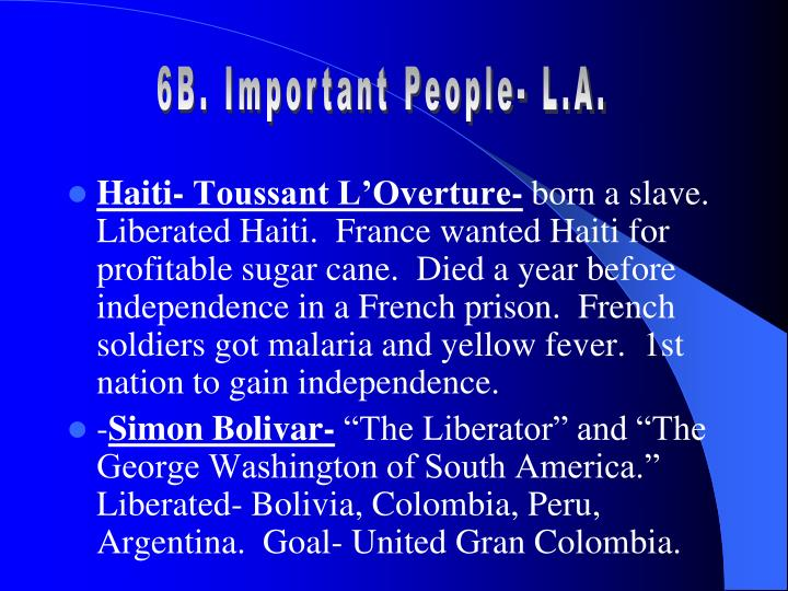 6B. Important People- L.A.