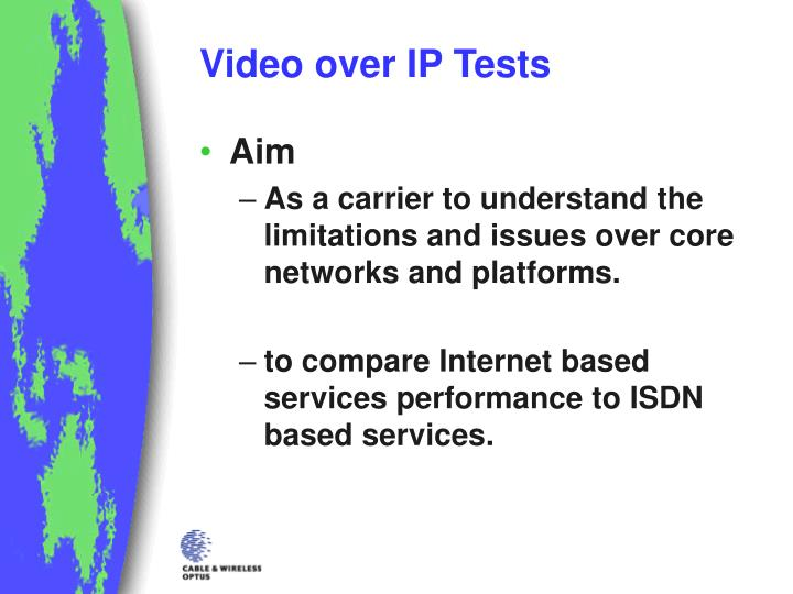 Video over IP Tests