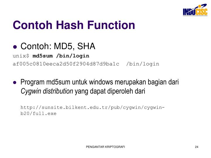 Contoh Hash Function