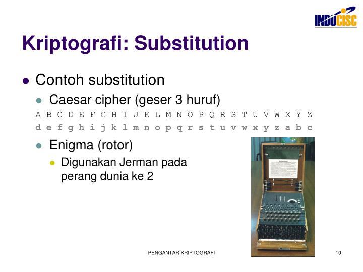 Kriptografi: Substitution