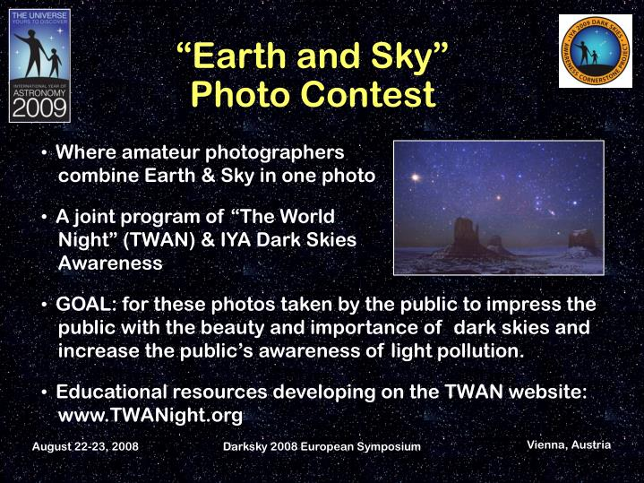 Darksky 2008 European Symposium