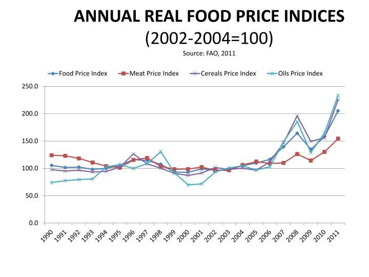 ANNUAL REAL FOOD PRICE INDICES