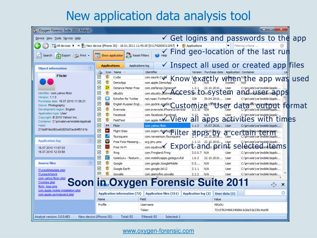 PPT - New in Oxygen Forensic Suite 2011 PowerPoint