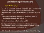carichi termici per trasmissione