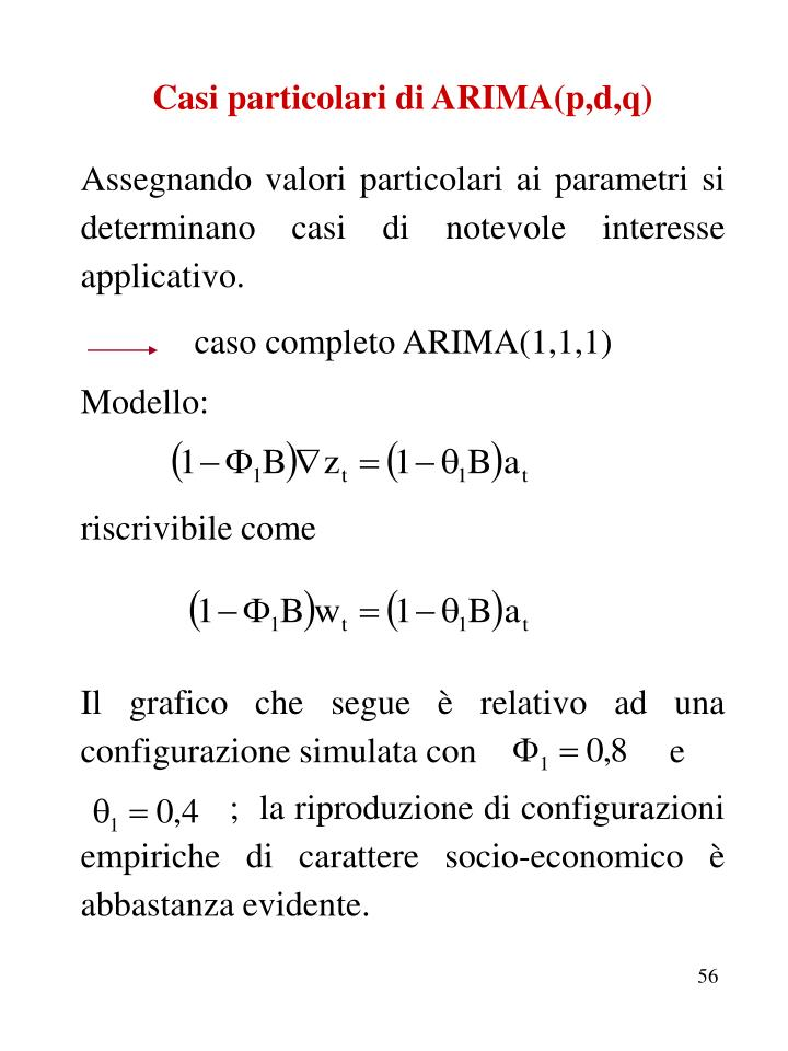 Casi particolari di ARIMA(p,d,q)