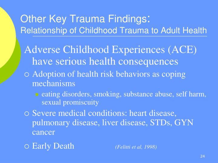 Other Key Trauma Findings