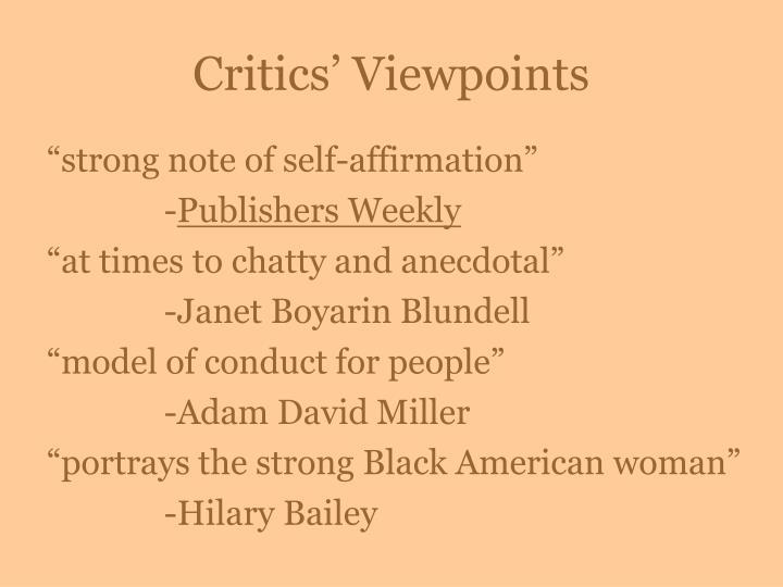 Critics' Viewpoints