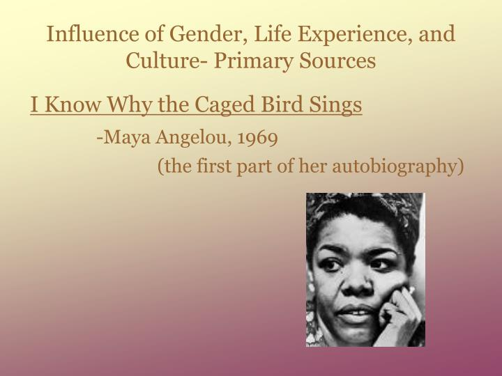Influence of Gender, Life Experience, and Culture- Primary Sources