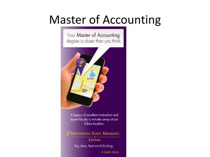 Master of Accounting