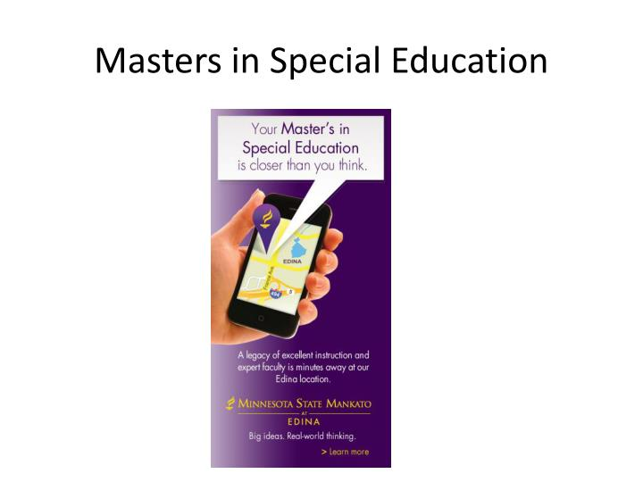 Masters in Special Education