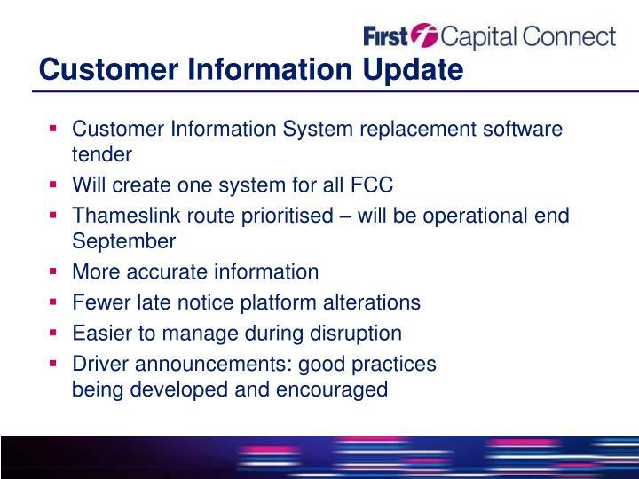 Customer Information Update