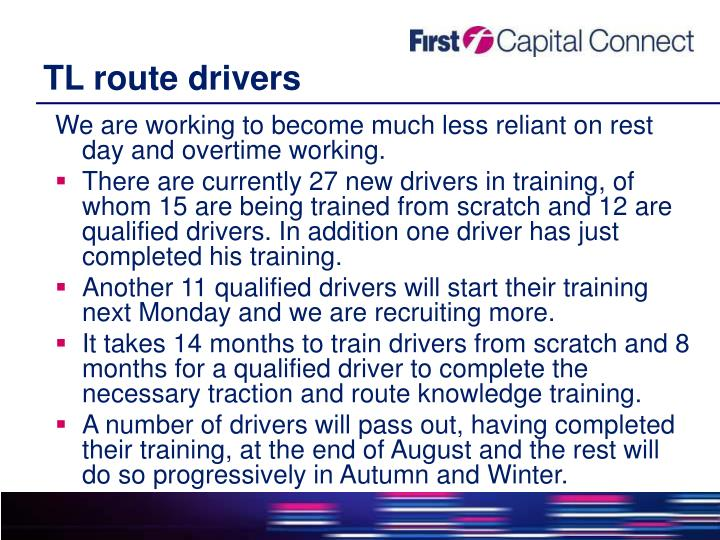 TL route drivers