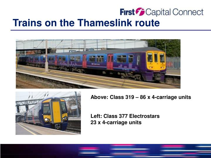 Trains on the thameslink route