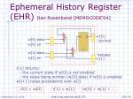 ephemeral history register ehr dan rosenband memocode 04