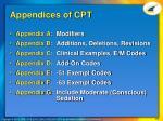 appendices of cpt