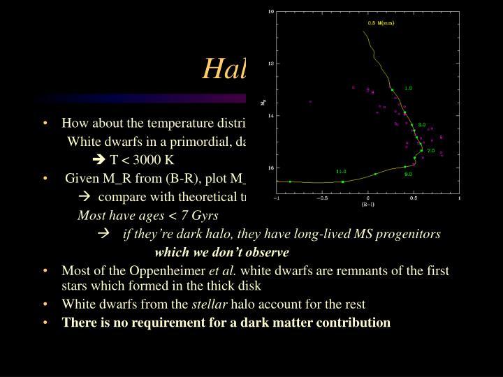 Halo white dwarfs? II