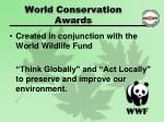 world conservation awards1