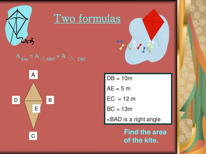 Two formulas