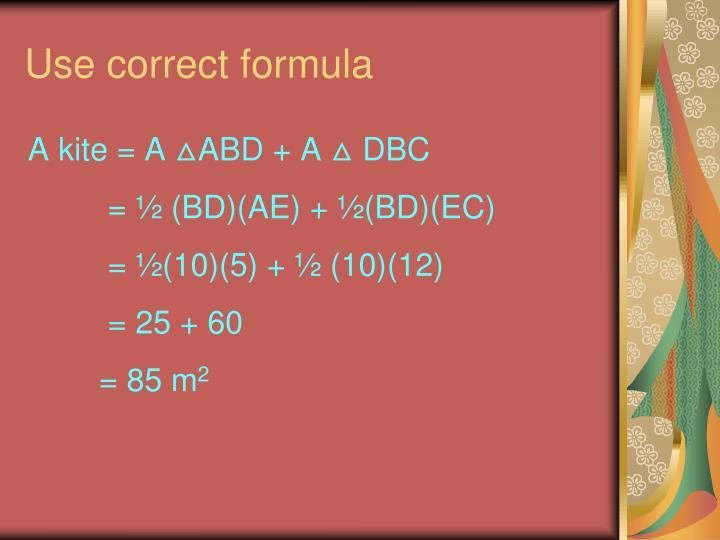 Use correct formula
