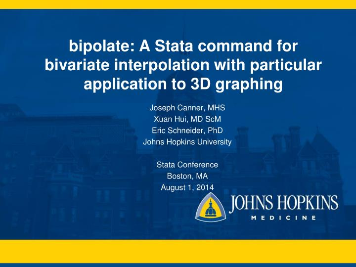 bipolate a stata command for bivariate interpolation with particular application to 3d graphing n.