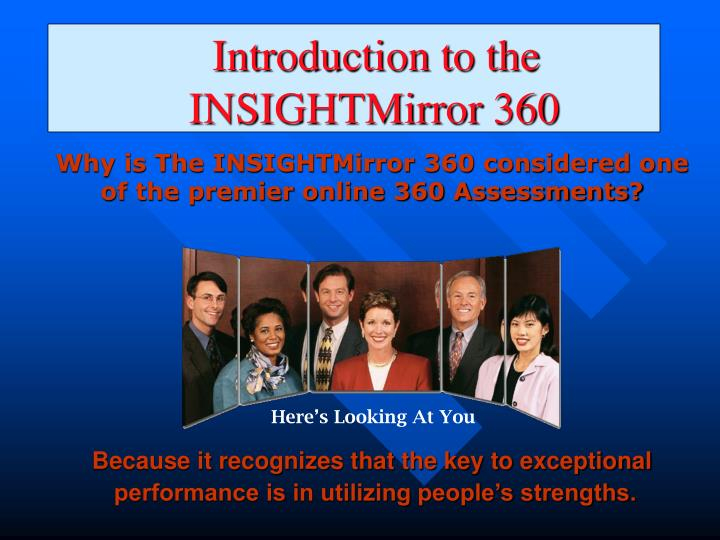 Introduction to the insightmirror 360