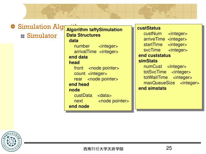 Simulation Algorithm