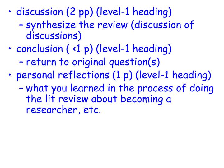 discussion (2 pp) (level-1 heading)