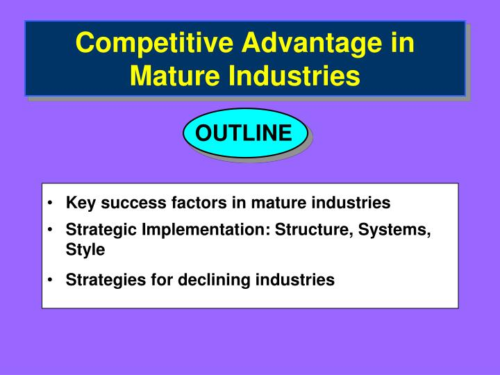 key competitive factors of automotive industries The key issues that have the strongest relationship with success and profitability in the automotive industry are being in a highly competitive industry, laws and regulations about safety and the general environment, and technology innovation with breakout designs and consumer preferences.