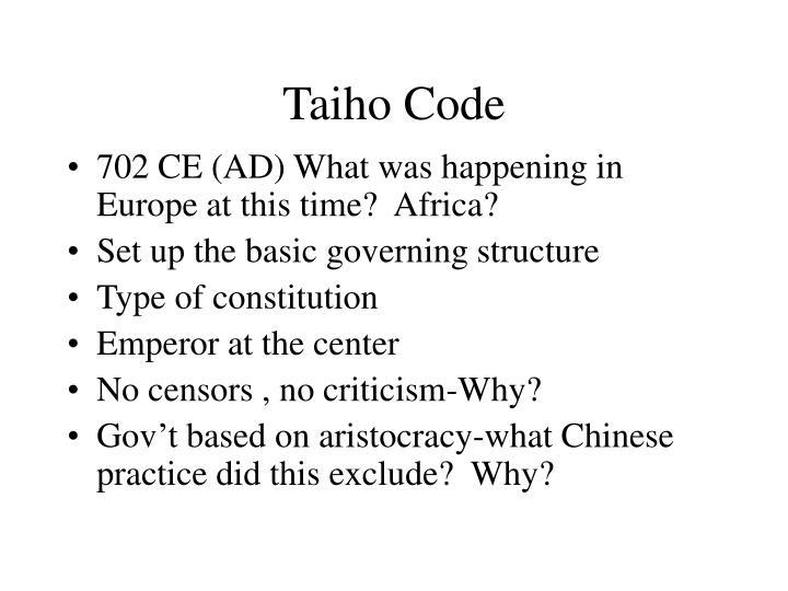 Taiho Code