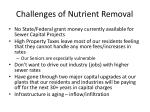 challenges of nutrient removal