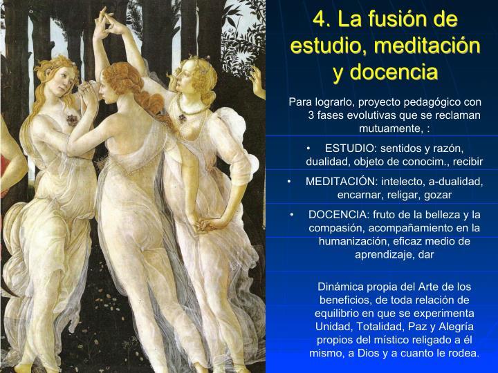 4. La fusión de estudio, meditación y docencia