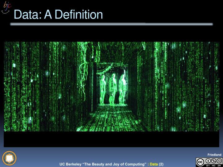 Data a definition