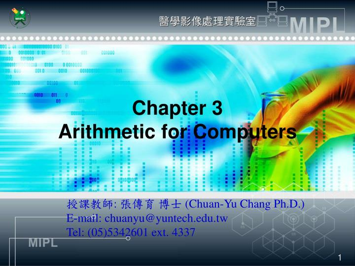 chapter 3 arithmetic for computers n.