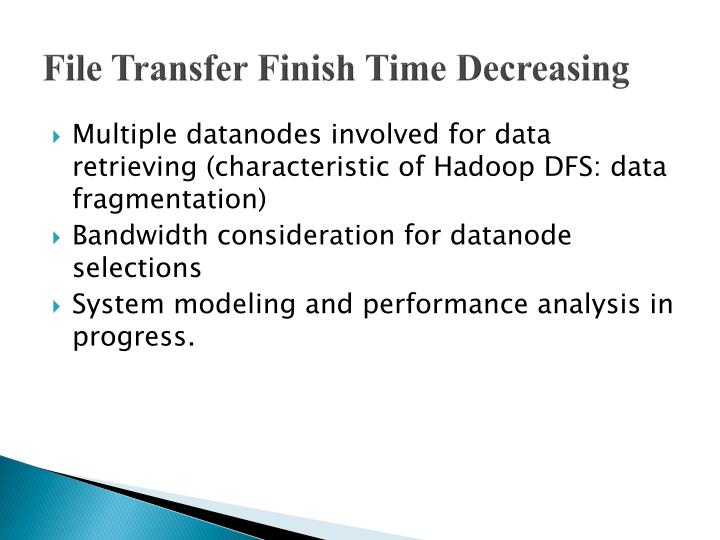 File Transfer Finish Time Decreasing