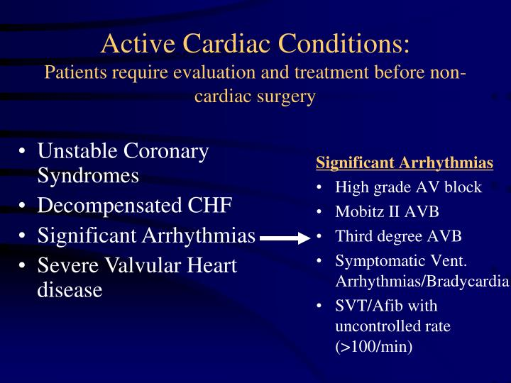 Significant Arrhythmias