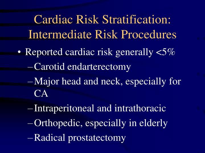 Cardiac Risk Stratification:
