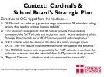 context cardinal s school board s strategic plan