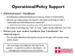 operational policy support