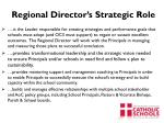 regional director s strategic role