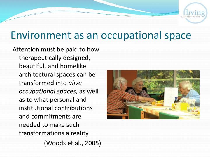 Environment as an occupational space