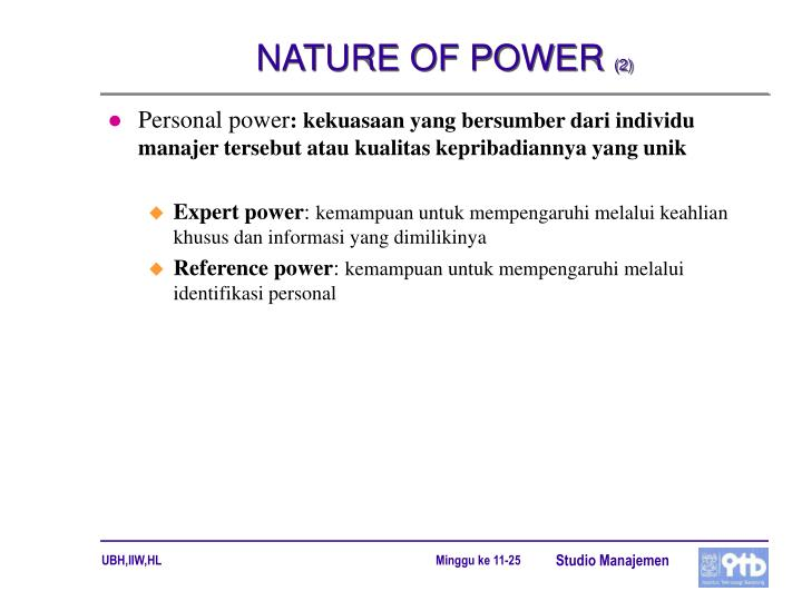 NATURE OF POWER