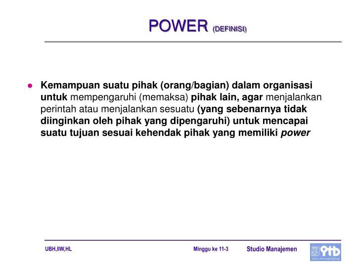 Power definisi
