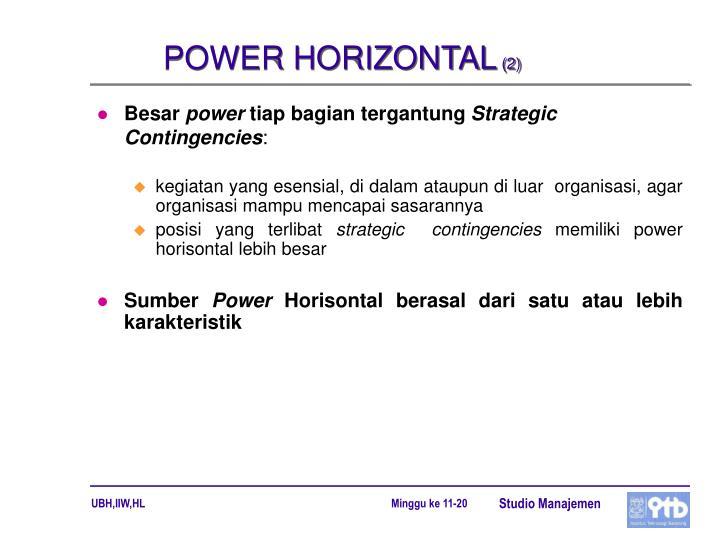 POWER HORIZONTAL
