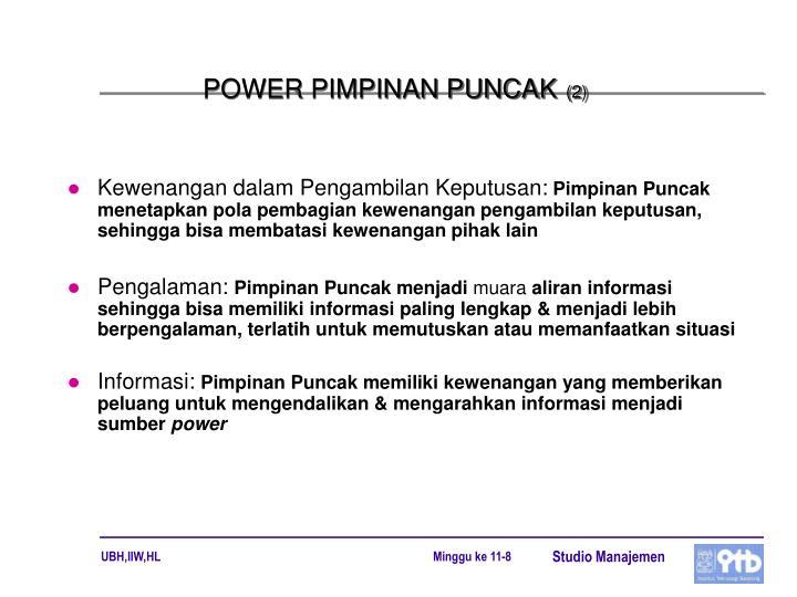 POWER PIMPINAN PUNCAK