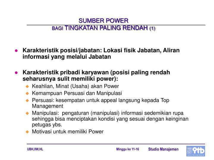 SUMBER POWER