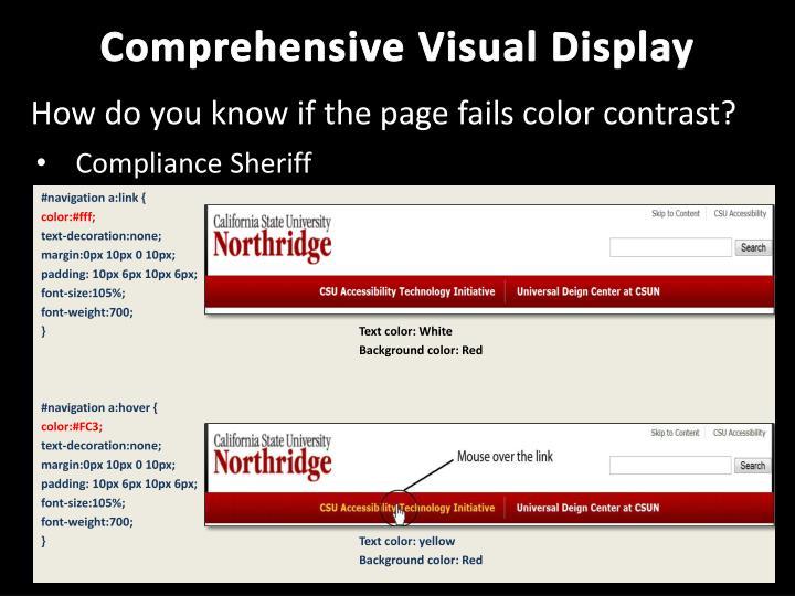 Comprehensive Visual