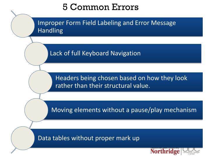 5 Common Errors