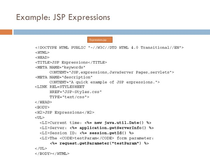 Example: JSP Expressions