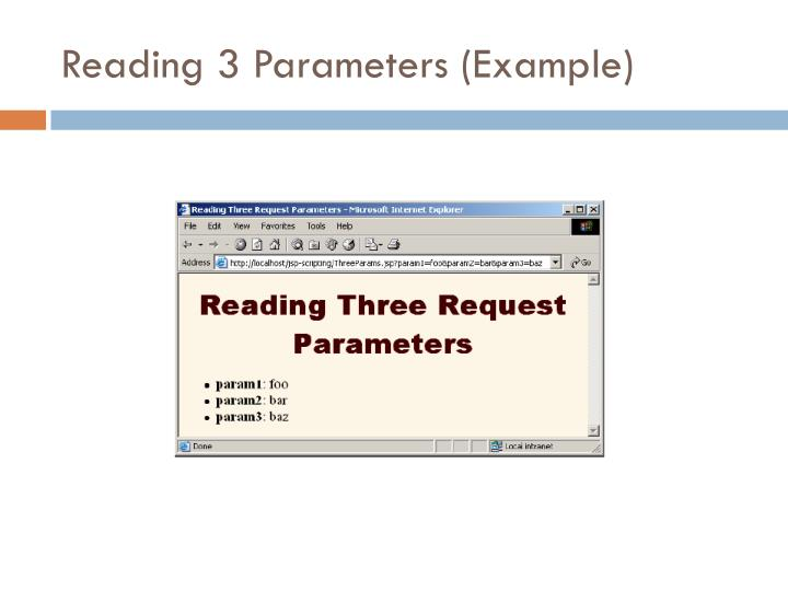 Reading 3 Parameters (Example)